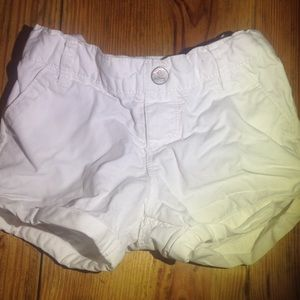 Old navy toddler girls white shorts